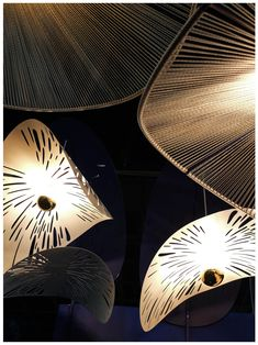Showcase of MOS products at 2019 Design Johannesburg featuring Rooms on View. Featured products are: RAIN FOREST cluster and the hand woven FRENCH HAT statement lighting in white and gold rope. French Hat, Hand Weaving, Rain, Rooms, Texture, Lighting, Building, Gold, Design