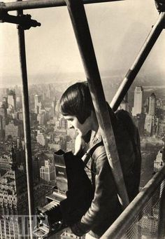 Photographer Margaret Bourke-White on the Chrysler Building ca.1931
