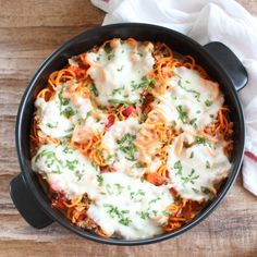 Spiralized Sweet Potato Italian Turkey Casserole #GlutenFree #Healthy #Spiralizer