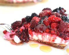 Magere kwark cheesecake
