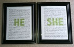 DIY Dcor- Personalized He  She Boards. Cute way to express your love for each other diy-wedding