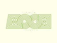 Moon designed by Yoga Perdana. Connect with them on Dribbble; the global community for designers and creative professionals. Typography Letters, Graphic Design Typography, Lettering, Typography Inspiration, Graphic Design Inspiration, Sayings And Phrases, Leaf Logo, Logo Concept, Graphic Illustration