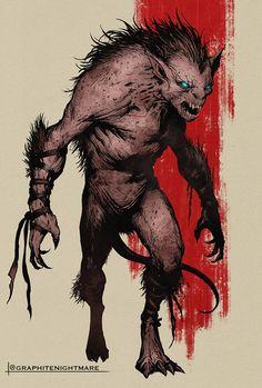 """Werewolf Beast"" Artist Ben Garriga. Fantasy Creatures, Mythical Creatures, Big Barda, Werewolf Art, Fantasy Artwork, Dark Fantasy, Game Art, Mythology, Board Games"