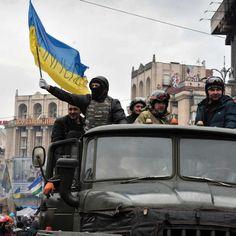 Ukraine president Viktor Yanukovych denounces 'coup d'etat' after protesters take control in Kiev - ABC News (Australian Broadcasting Corporation)