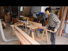 Making lots of baseboard molding - YouTube