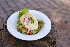Salát mesclun se slaninou a vejcem-Foto:Martin Čuřík