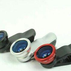 Satu paket terdiri dari  - Fish eye lens 180 derajat - Lensa 0,67x wide - Lensa Macro - penutup lensa - kantong untuk wadah  Fish Eye Lens (mata ikan) adalah lensa wide angle sehingga gambar yang dihasilkan menjadi cembung. Wide Angle Lens bisa menjangkau bidang pandang lebih lebar Macro Lens untuk mengambil gambar dari jarak dekat  paking menggunakan bubble wrap.  warna tergantung stock atau di ( kombinaksikan)  Barang Ready, Silahkan di Order ,,,