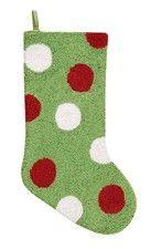 "Dots Hooked Christmas Stocking 8.5"" x 20"""