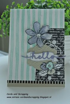 Garden in Bloom, Stampin up, greetings thinlits