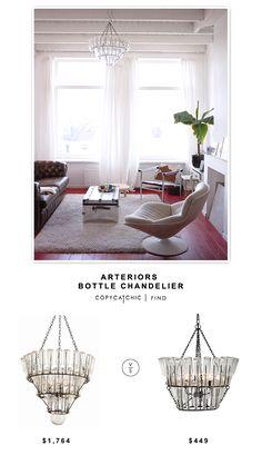 @wayfair Arteriors Bottle Chandelier | $1,764 vs @potterybarn French Bottle Chandelier | $449