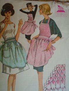 Free+Full+Apron+Patterns   1962 Apron Pattern McCalls Pattern Full and Half Apron Apron Junior ...