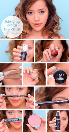 New Tutorial: Waterproof Your Makeup... love the use of products.... especially want to try the UD Cannonball mascara.