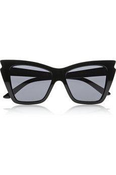 Le Specs Rapture cat eye acetate sunglasses   NET-A-PORTER