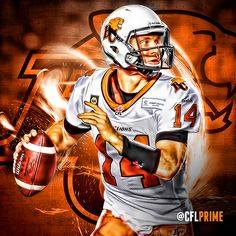 Travis Lulay, BC Lions Canadian Football League, American Football, Sports Games, Sports Art, Football Art, Football Helmets, Lions, Cool Pictures