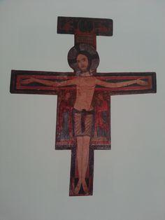Ancient crucifix #painting #religious #art
