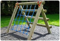 Childrens Rope Climbing Frame | Playground Wooden Adventure Trail |