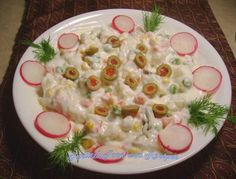 Turkish Russian Salad (Rus Salatasi)  This dish seems always served as a specialty of the house.