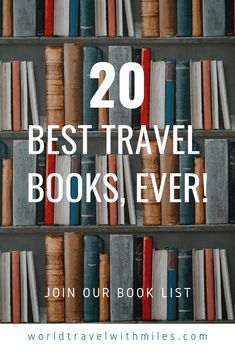 20 Best Travel Books, Ever! Reading is good for you and may help you live longer. This book collection contains twenty of the best travel books ever, in my humble opinion. It contains both personal travel journals as well as travel fiction books.