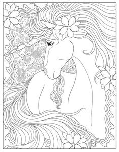 Creative Haven Unicorns Coloring Book Make your world more colorful with free printable coloring pages from italks. Our free coloring pages for adults and kids. Horse Coloring Pages, Unicorn Coloring Pages, Colouring Pages, Coloring Sheets, Free Adult Coloring, Printable Adult Coloring Pages, Creative Haven Coloring Books, Unicorn Drawing, Mandala Coloring