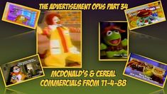 @mcdonalds and @kelloggsus #Commercials 11-4-88 #Advertisement Opus 34 https://youtu.be/h2Ay-oMPgFo Like Muppet Babies dolls and tons of #advertisements during the #commercial breaks of Charlie Brown & Meet the Raisins. Enjoy the Two T Fruits song Tony.