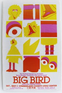 Awesome vintage Big Bird and the Orchestra poster!