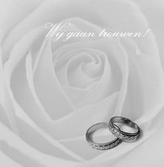 Trouwkaart: Grote grijze roos met twee ringen. Trouwkaarten online maken en bestellen. Prachtige trouwkaarten met ringen: kies een trouwkaart, schrijf de tekst, en vraag een gratis proefdruk op! http://www.trouwpost.nl/trouwkaarten/ringen/