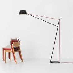 The Spar Floor Lamp is a large cantilevered floor lamp that takes its inspiration from the mast arrangements of classic sailing boats. http://www.ylighting.com/resident-spar-floor-lamp.html