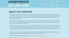 Simple blue web design: http://www.weareapartments.org/about-campaign
