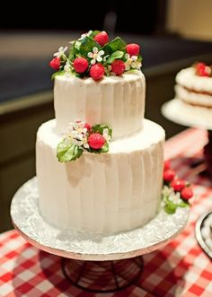 wedding cake with strawberries - Google Search