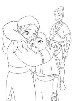 Avatar Tegninger til Farvelægning. Printbare Farvelægning for børn. Tegninger til udskriv og farve nº 13