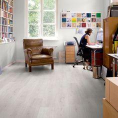 White Laminate Flooring Trend Oak White Advanced Laminate Flooring Buy Advanced Laminate - Decornish [dot] com White Laminate Flooring, Linoleum Flooring, Laminate Countertops, Parquet Flooring, Kitchen Flooring, Floors, Types Of Flooring, Flooring Options, Sandstone Fireplace