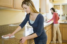 A checklist of cleaning tasks to do before you move into your new home.