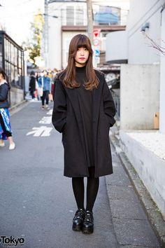 Yuriko Tiger - Harajuku Girl in All Black Jouetie Dress