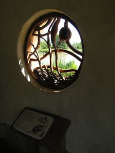 Slimbridge Back from the Brink, redwood sculpted window