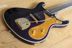 Sidejack DLX - Mardi Gras Purple - Eastwood Guitars, INC