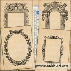 14 free printable old frames - great for photo mats or art projects using vintage photos.