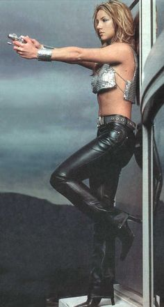 britney spears blue leather - Google Search