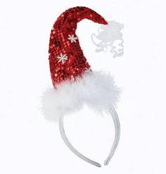 e273cd6a3c61a Sequin Santa Hat Headband by Silvestri at Fiddlesticks