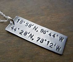 A Latitude/Longitude Necklace | 20 Things That Will Help You Through Your Long Distance Relationship
