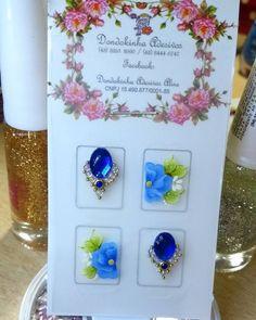Azul é sempre lindo neah🌼 #adesivosdeunhas #adesivosartesanais #unhas #unhasdecoradas #nails💅 #nailsarts #nailsartesanais #joias #joiasdeunhas #dondokinha