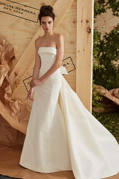 Arielle wedding dress from the Carolina Herrera Bridal Spring 2017 Collection…