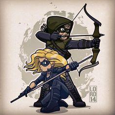 Ollie and sara green arrow black canary #Arrow