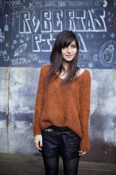 Brown fuzzy sweater | Crush Cul de Sac