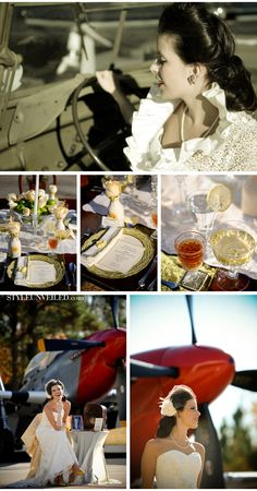 WWII inspired shoot by photographer Melissa Hume, P-51 Mustang #PerfectWedding