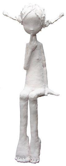 Lolita_by Maria Rita Paper Mache Sculpture, Sculptures Céramiques, Pottery Sculpture, Abstract Sculpture, Sculpture Art, Atelier D Art, Polymer Clay Dolls, Paperclay, Wire Art