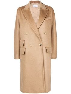 Max Mara Double Breasted Coat In Neutrals Max Mara, Beige Coat, Cashmere Coat, Double Breasted Coat, Wardrobes, Designing Women, Women Wear, Suit Jacket, Mens Tops