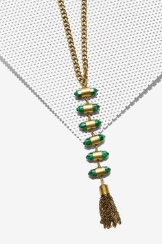 Bulletproof Ladder Necklace - pair with a plunging bodysuit and cutoffs.