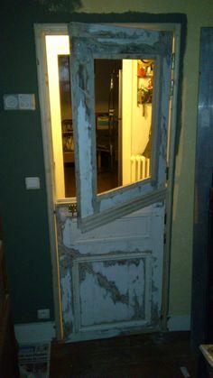 porte fermi re partir d une vieille porte lionel. Black Bedroom Furniture Sets. Home Design Ideas