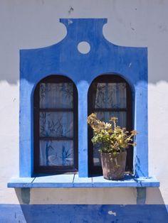 Window Detail, Alte Village, Algarve, Portugal Lámina fotográfica