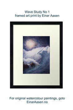 Prints, posters, wall art with watercolour paintings by Einar Aasen. Watercolour Paintings, Watercolor, Framed Art Prints, Posters, Wall Art, Landscape, Inspiration, Design, Biblical Inspiration